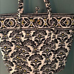 Vera Bradley Large Tote Purse Bag black floral